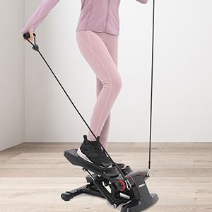 Mini Stepper met Elastic Touw, Up-down-stepper, Fitness Training voor thuis, Swingstepper