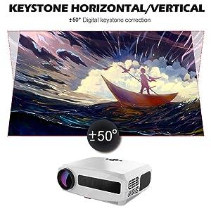 proyector correccion 4d, proyector correccion horizontal, proyector con zoom digital, proyector led