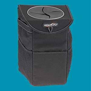 console car trash can with cover