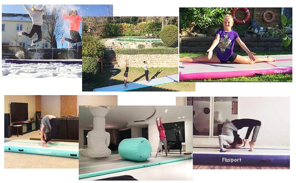 Piste Gonflable Gymnastique Airtrack 20CM /Épais Gymnastique Tapis 3//4//5//6//7//8//9//10//11//12M Air Track Tapis de Tumbling Mat Pompe /électrique pour Maison//Yoga//Taekwondo//Flottant//Camping