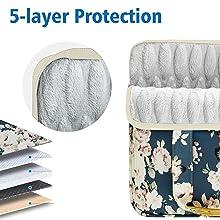 Slim and Expandable 14-15 inch Laptop Handbag protection peony bu