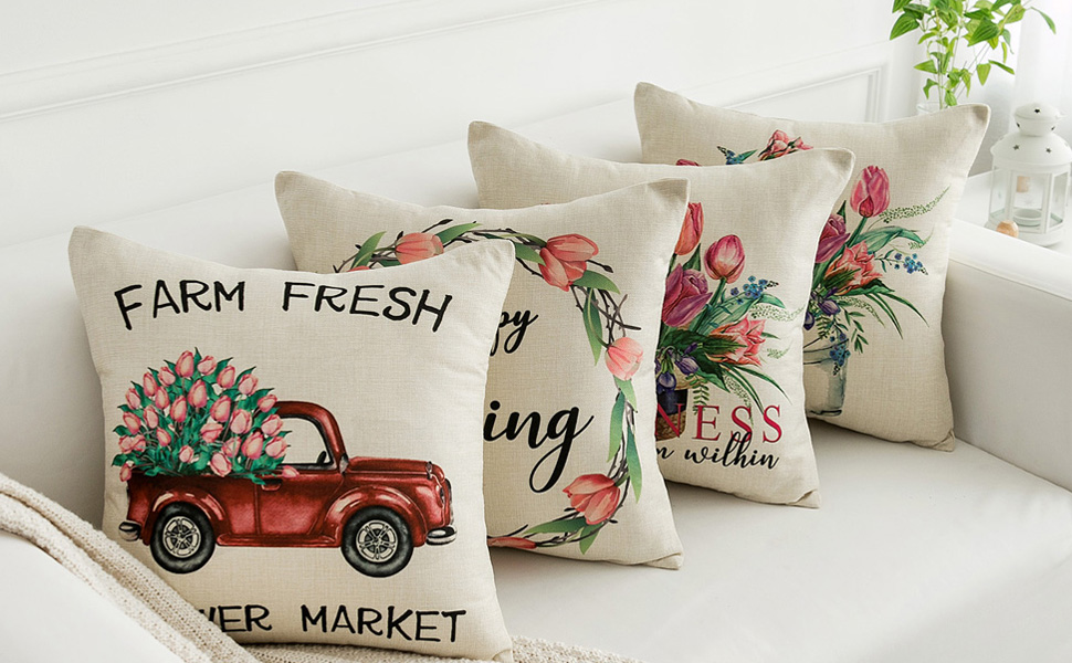 spring pillow cover