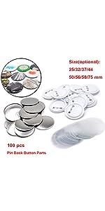 100pcs button parts