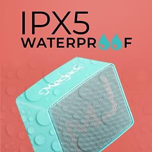 Macjack Wave 120 Wireless Bluetooth Stereo Speaker Mic time, Water Proof Loud Sound Black blue teal)