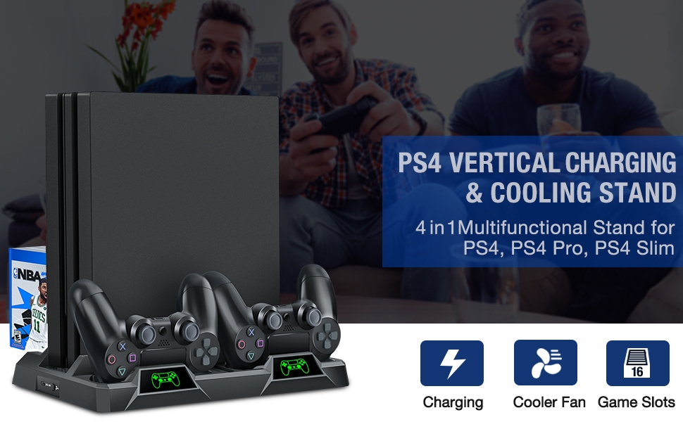 PS4 vertical cooling stand