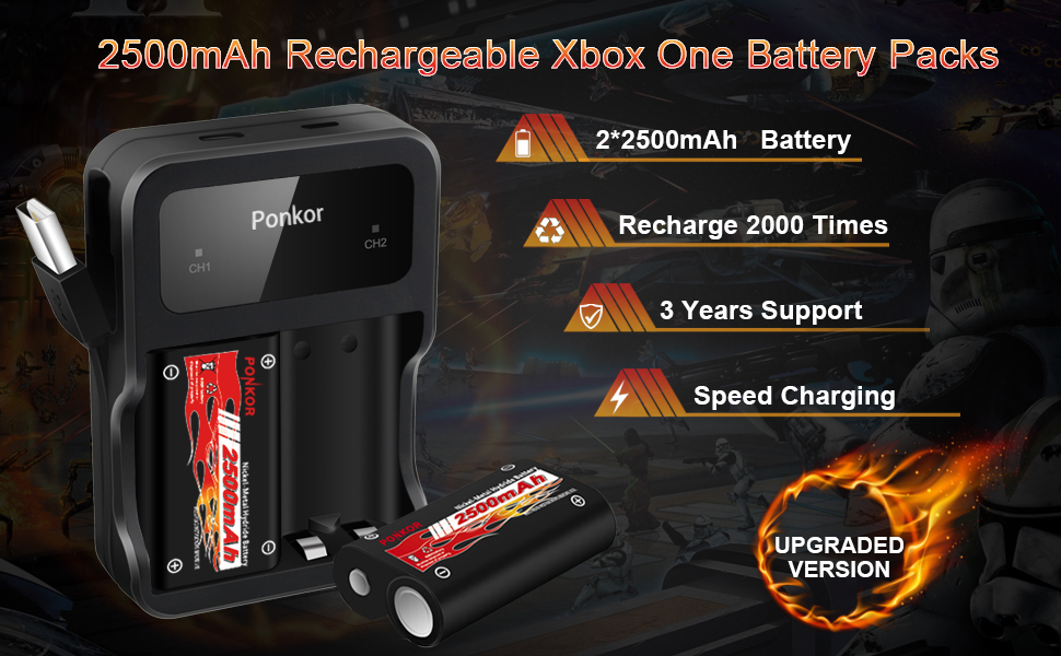 xbox one controller battery