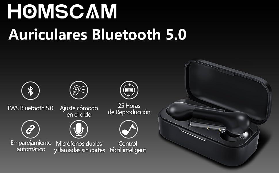 Auriculares 5.0 Auriculares Bluetooth Auriculares Inalámbricos Bluetooth HiFi Mini Twins Estéreo