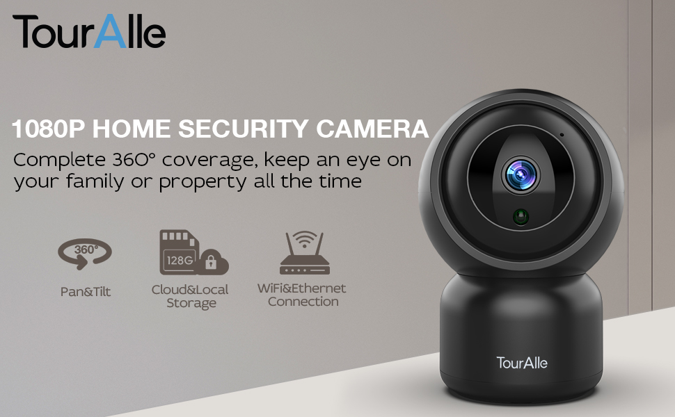 touralle 1080p indoor home security camera