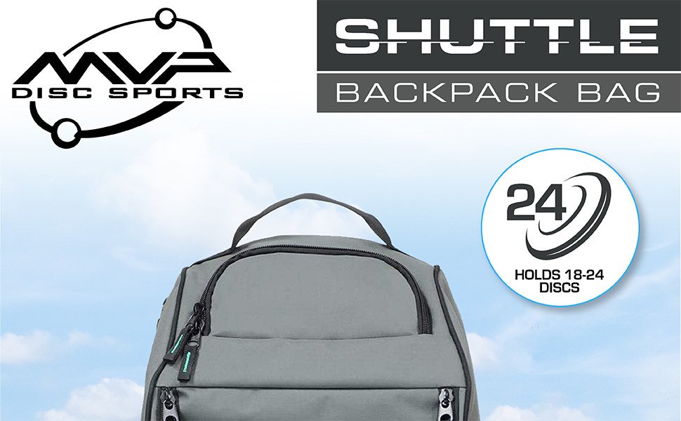 MVP Disc Sports Shuttle Backpack Disc Golf Bag