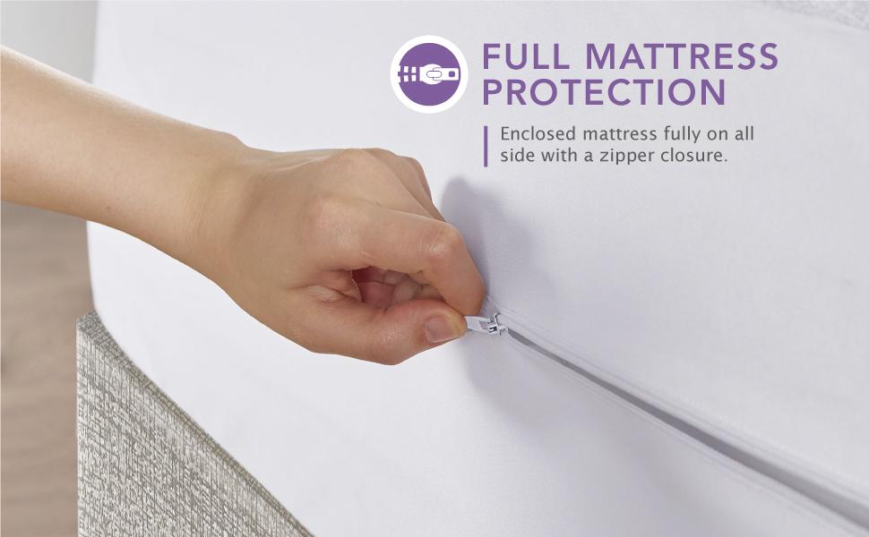 Zipper Enclosure Mattress Protector Zipper Flap design Zipper Mattress Cover Full protection