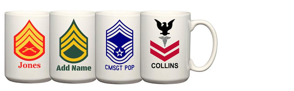 Army, Navy, Marines, Air Force Mugs