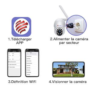 caméra surveillance wifi distance