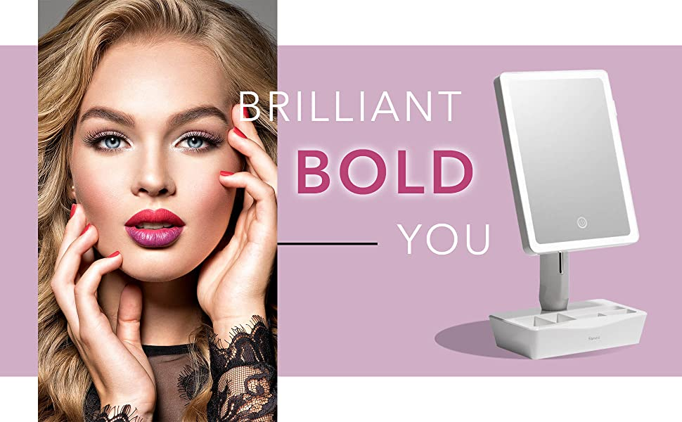 Fancii gala led lighted makeup mirror