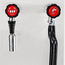 Anti-scald protection knob
