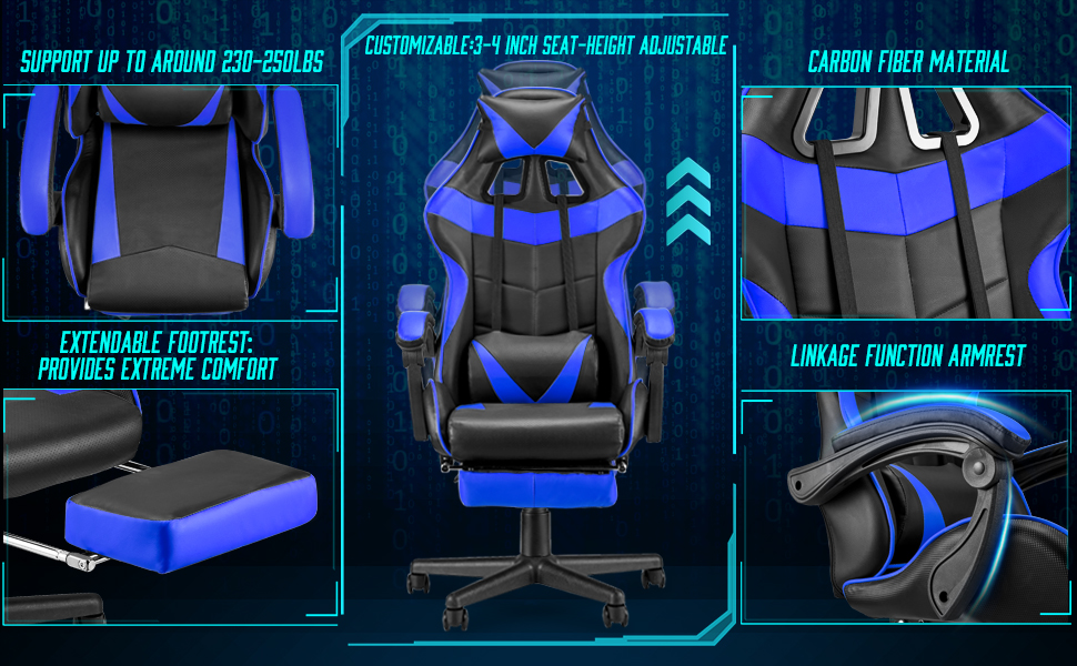 Computer Gaming Chair / Ergonomic Gaming Chair / Video Gaming Chair / Office Chair