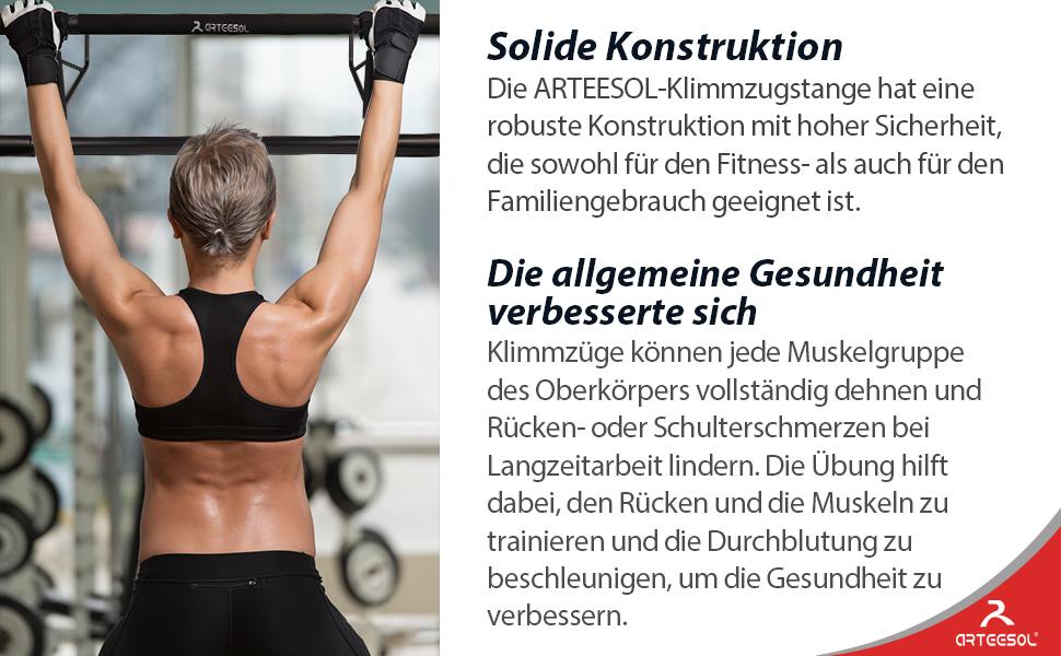 arteesol Fitness Barras de Dominadas Pared - Pull Up Bar Door Fitness Dips Station Gym Home