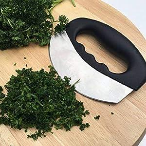 cutting board small herb chopper herb cutter mezzaluna chopper small cutting board wood