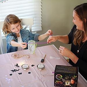 fairy lantern craft kit for kids gift age 5,6,7,8,9,10 glitter fun creative