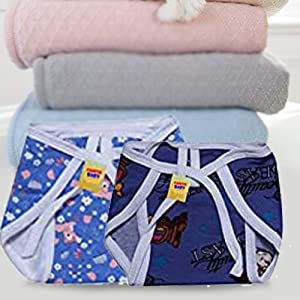 First Kids Step FARETO Unisex Baby Clothing Set/6 Front Open Shirts/6 Single Layer Nappies/6 Caps, 0-3 Months (Assorted)(L-10 Inchs, B-9Inchs)