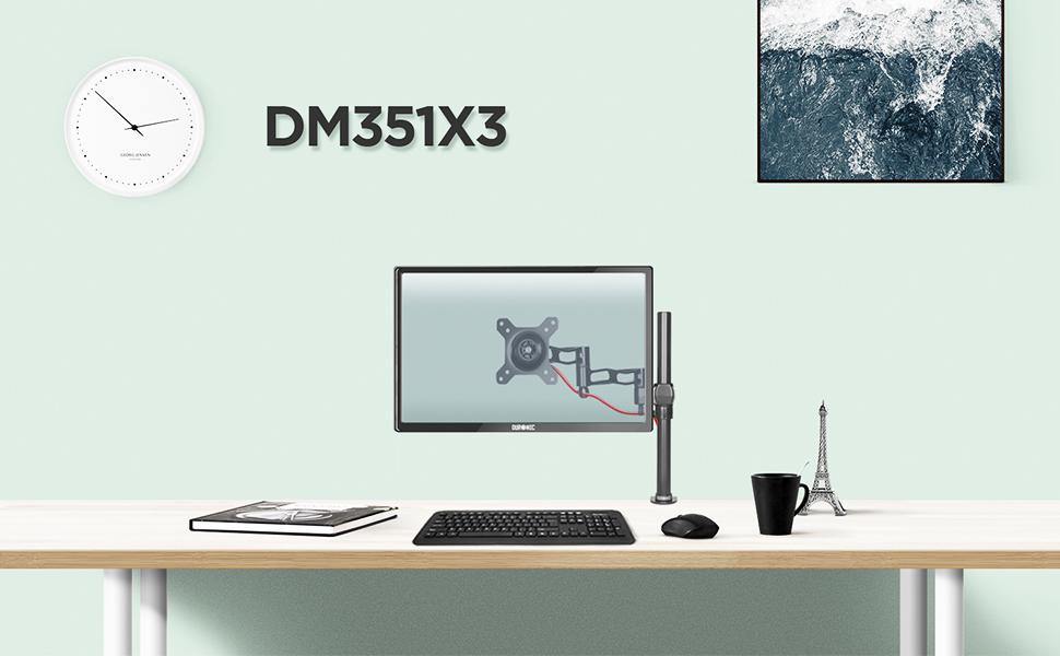Duronic DM351X3 /BK Soporte para Monitor de 13