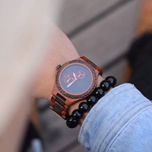 orologio di legno