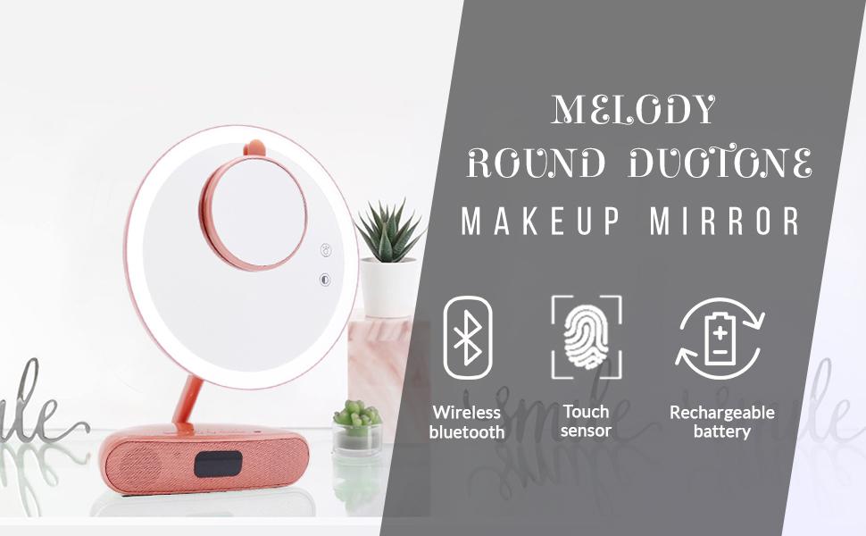 touch sensor makeup mirror