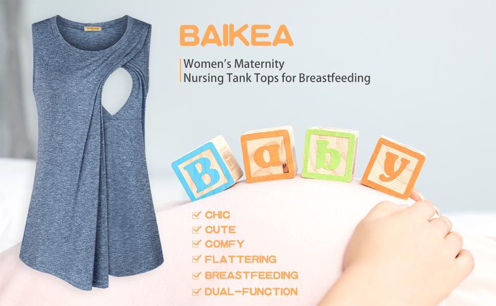 BAIKEA Nursing Tanks-1