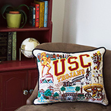 USC Embroidered Pillow
