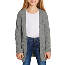 Casual Long Sleeve Open Front Soft Chunky Knit Sweater Cardigan Outerwear with Pockets