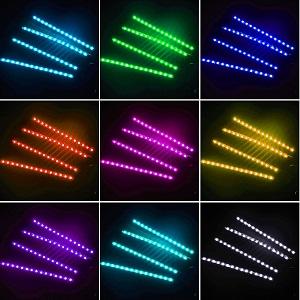 colorful car lights