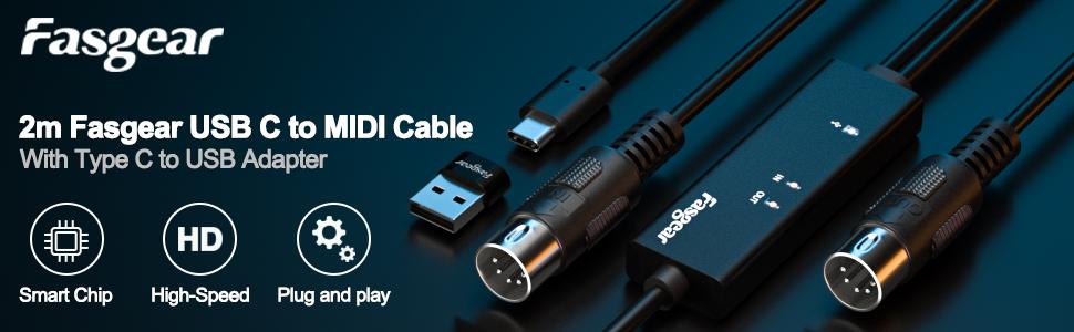 midi cable midi to usb cable midi to usb c midi to usb audio interface midi cables midi keyboard