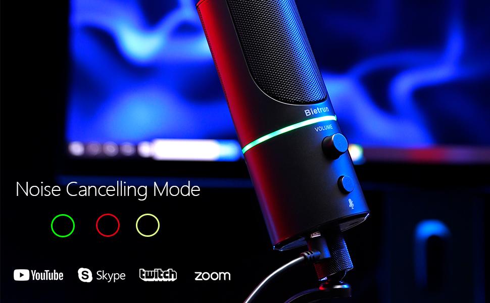 usb pc condenser desk computer gaming dynamic streaming recording singing microphone mic microfono