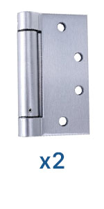 4.5 Inch Stainless Steel Reversible Pack of 2 by Dependable Direct Self Closing UL Listed Heavy Duty Commercial Spring Door Hinge