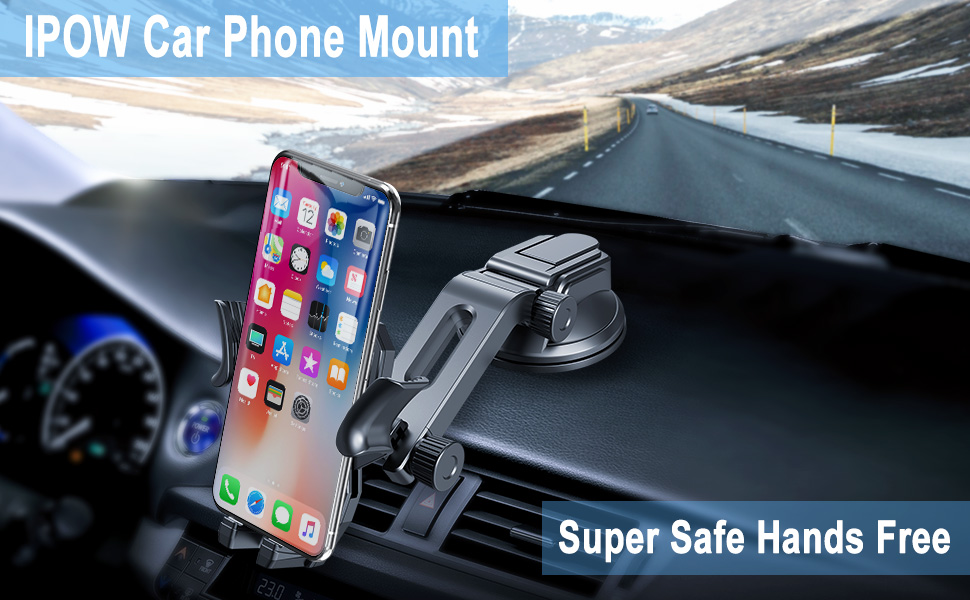 safest place to mount a cell phone in a car, safest place to mount phone in car, best place to mount phone in car, where should I place my phone holder, where is the best place to mount a cell phone in a car