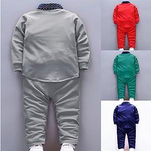 QMQ's Boy's Cotton Blazer Navy Shirt and Pant Suit Set