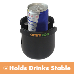 Emmzoe Universal Fit Stroller Cup Holder Stabilizer with Anti-Slip Clamp