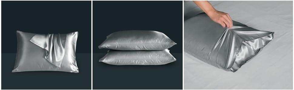 grey pillowcases queen size pillowcases queen pillowcases set of 2 pack pillowcases pillowcovers