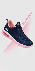 blue pink athletic shoes women