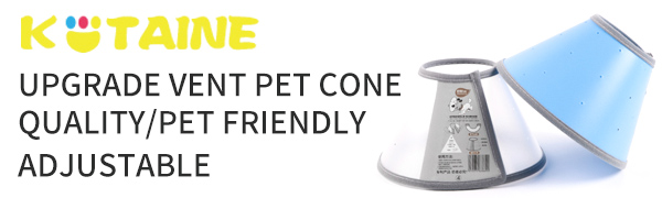 KITAINE Pet Dog cones Cat Cones recovery after surgery
