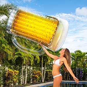inflatable beer raft