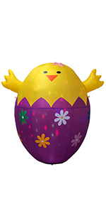 6 Feet Happy Easter Colorful Giant Egg Inflatable