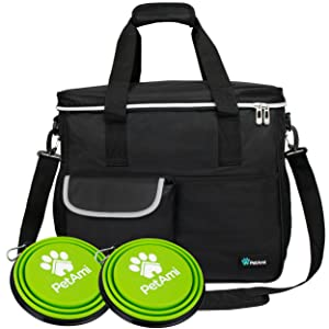Pet bag carrier tote for travel hiking outdoors hotel airplane pet bowls