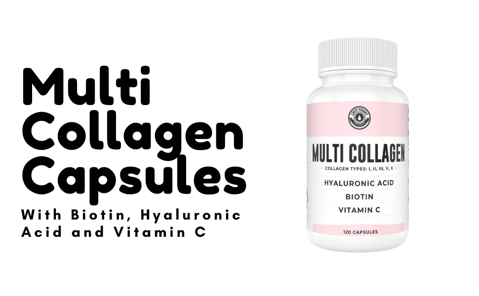 Multi Collagen Peptide Capsules with Biotin, Hyaluronic Acid and Vitamin C