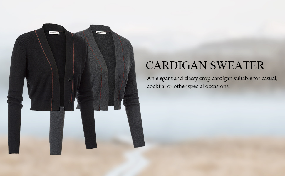 black cardigan sweater for women