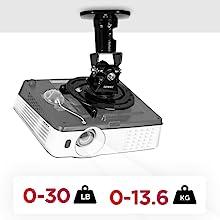 Duronic PB03XB Soporte para Proyector de Techo y Pared: Amazon.es ...