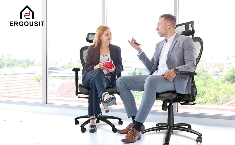 Ergousit band Ergonomic office chair fully adjustable strong tilt function