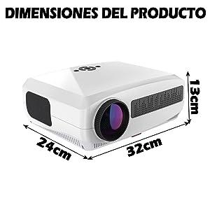 proyector portatil, proyector luximagen uhd400, luximagen uhd 400, proyector led barato, contraste