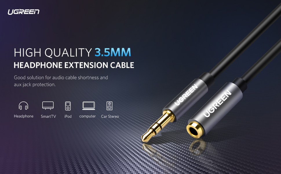 UGREEN 3.5mm Male to Female Extension Cable