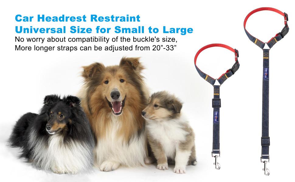 dog safety belt car headrest restraint is adjustable, more longer, used in small medium large dogs
