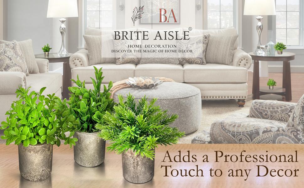 Brite Aisle Fake Plants